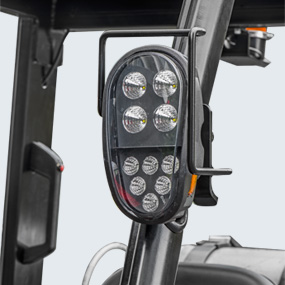 LED lights are applied for entire truck. It saves power and energy, with significantly increased performance and service life of lights