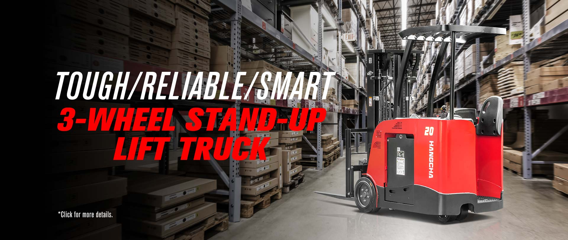 3-Wheel Stand-up Lift Truck